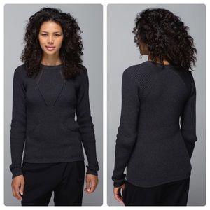 Lululemon The Sweater The Better Heather Black 10